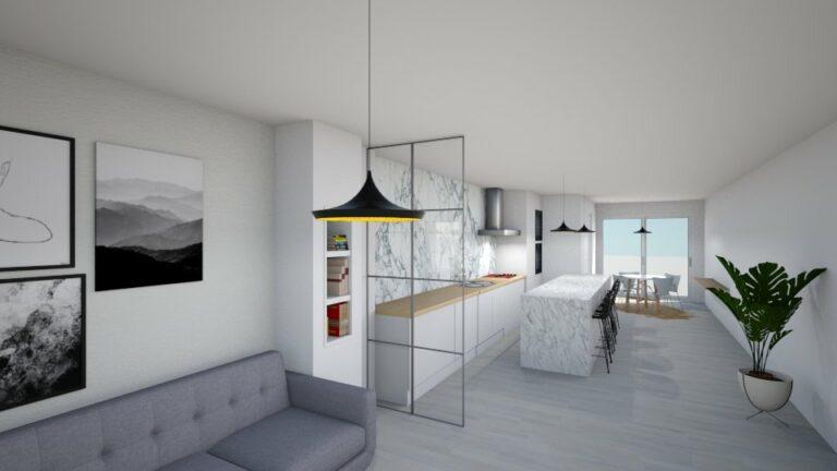 3D ontwerp  interieurproject te Kortrijk